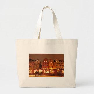 Grand Tote Bag Marché de Noël à Stockholm, Suède