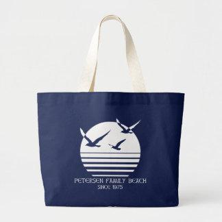 Grand Tote Bag Marine de Fourre-tout de plage de famille de