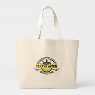 Grand Tote Bag marqueur d'ot de la rivière Platte