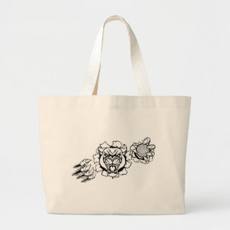 Grand Tote Bag Mascotte de golf de panthère noire cassant