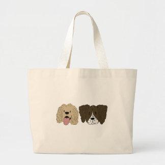 Grand Tote Bag Meilleurs amis - les épagneuls