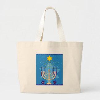 Grand Tote Bag menorah de hanoukka