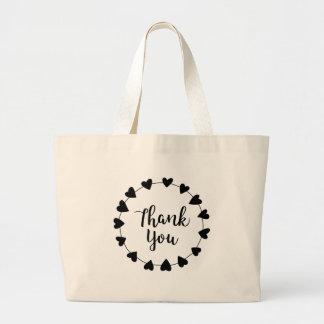 Grand Tote Bag MERCI, carte de remerciements