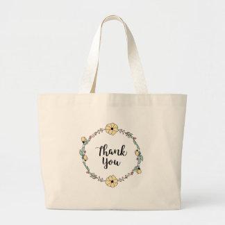 Grand Tote Bag MERCI ! Carte de remerciements