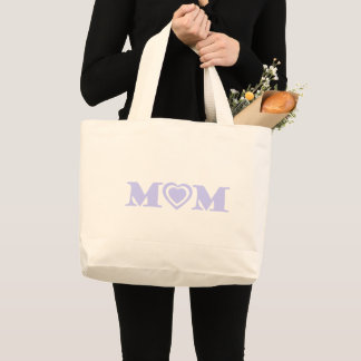 Grand Tote Bag Mère à bas prix simple d'amour de maman de coeurs
