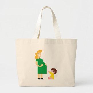 Grand Tote Bag Mère et enfant