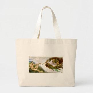 Grand Tote Bag Michaël Angelo - création de la peinture d'Adam