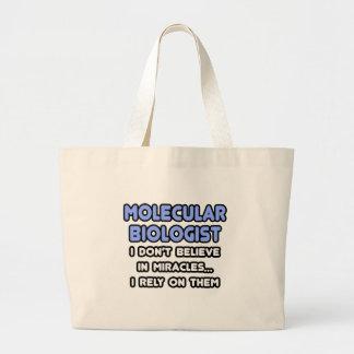 Grand Tote Bag Miracles et biologistes moléculaires