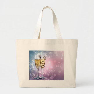 Grand Tote Bag Miscellaneous - Golden Champagne Cup Pattern Four