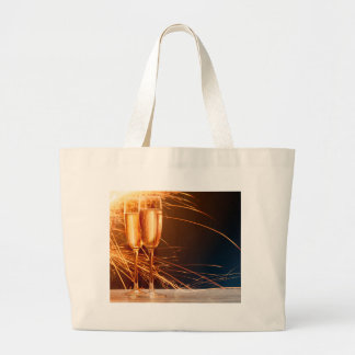 Grand Tote Bag Miscellaneous - Golden Champagne Cups Pattern Five