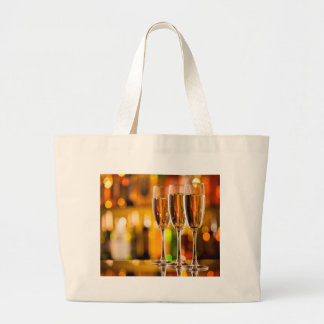 Grand Tote Bag Miscellaneous - Golden Champagne Cups Patterns Two
