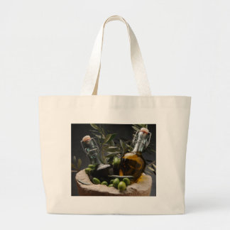 Grand Tote Bag Miscellaneous - Oil & Olives Patterns One