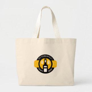 Grand Tote Bag Modèle de conception de logo de bière de métier