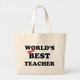 Grand Tote Bag Monde 2ème. Le meilleur professeur