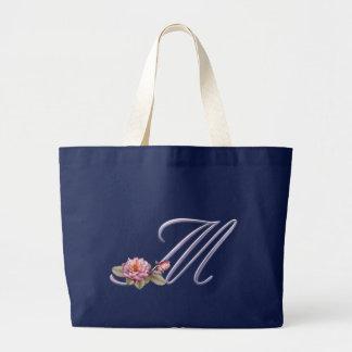 Grand Tote Bag Monogramme rose M de roses
