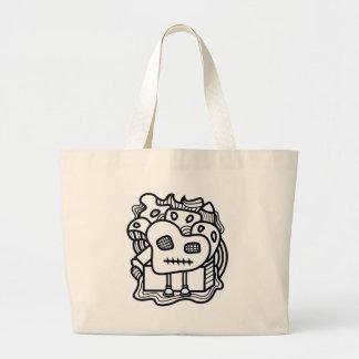 Grand Tote Bag Monstre de griffonnage