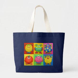 Grand Tote Bag Monstres