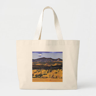 Grand Tote Bag Montagnes colorées