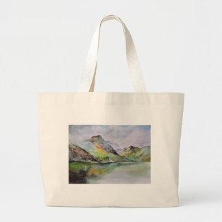 Grand Tote Bag Montagnes écossaises