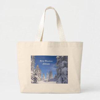 Grand Tote Bag Montagnes rocheuses de Milou le Colorado