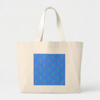 Grand Tote Bag Motif bleu d'hippocampe