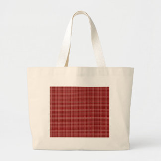 Grand Tote Bag Motif Checkered simple rouge et blanc