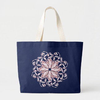 Grand Tote Bag Motif de ballet (rose)