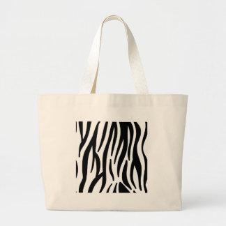 Grand Tote Bag motif de rayures de zèbre