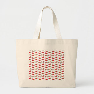 Grand Tote Bag Motif de teckel de Noël