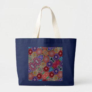 Grand Tote Bag Motif multicolore d'édredon