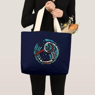 Grand Tote Bag MotMot/marine (sac fourre-tout enorme)