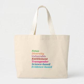 Grand Tote Bag Mots à base scientifique et autres interdits