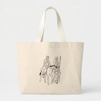 Grand Tote Bag Nativité Mary et illustration de Noël de Joseph