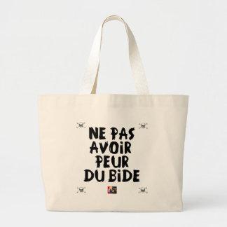 Grand Tote Bag Ne pas avoir PEUR DU BIDE - Jeux de Mots