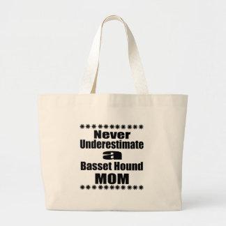 Grand Tote Bag Ne sous-estimez jamais la maman de Basset Hound