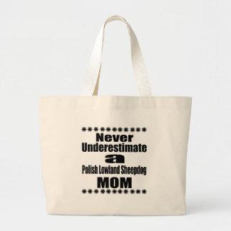 Grand Tote Bag Ne sous-estimez jamais la maman polonaise de chien