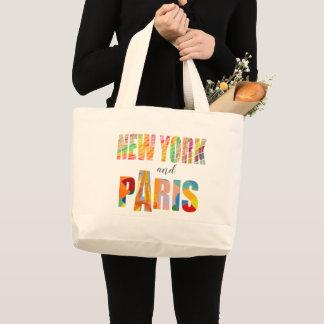 Grand Tote Bag New York et Paris