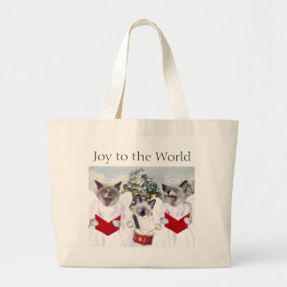 Grand Tote Bag Noël Fourre-tout de Carol de chaton