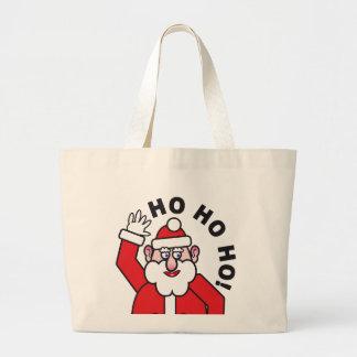 Grand Tote Bag Noël le père noël HO HO HO !