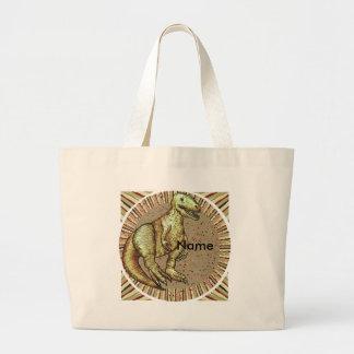 Grand Tote Bag Nom de coutume de dinosaure