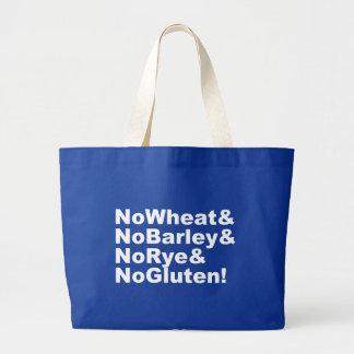 Grand Tote Bag NoWheat&NoBarley&NoRye&NoGluten ! (blanc)