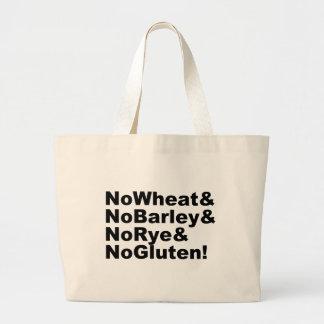 Grand Tote Bag NoWheat&NoBarley&NoRye&NoGluten ! (noir)