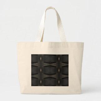 Grand Tote Bag Nuances de motif classique gris de charbon de bois