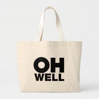 Grand Tote Bag Oh, texte, mots d'exaspération