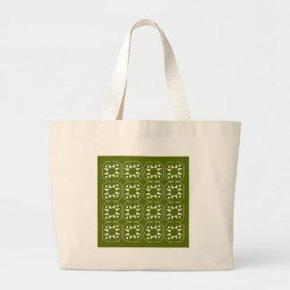 Grand Tote Bag Olives Ethno d'éléments de conception