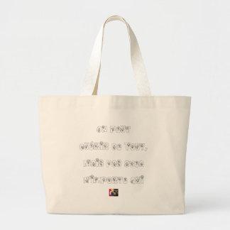 Grand Tote Bag On peut Guérir de Tout mais pas avec n'importe qui