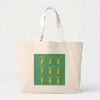 Grand Tote Bag Or de baobabs sur le vert d'eco