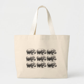Grand Tote Bag or d'hippopotame