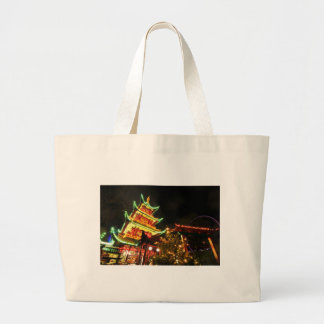 Grand Tote Bag Pagoda chinoise la nuit