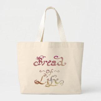 Grand Tote Bag Pain de la vie - rachetée par l'amour